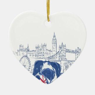 dog in the united kingdom ceramic ornament