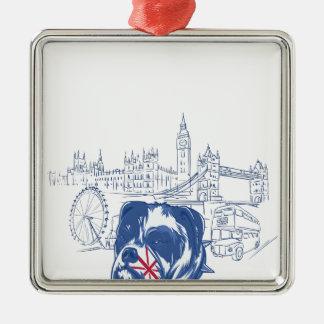 dog in the united kingdom metal ornament