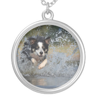 Dog in the Water Silver Plated Necklace