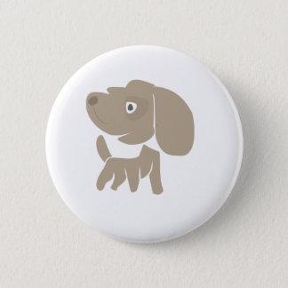 Dog is brown Standard, 2¼ Inch Round Button
