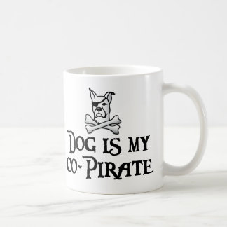 Dog is my co-pirate coffee mug
