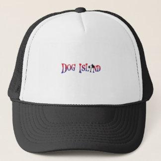 dog island trucker hat