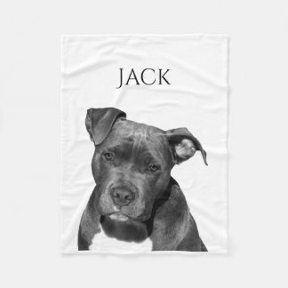 Dog isolated Add your background color Fleece Blanket