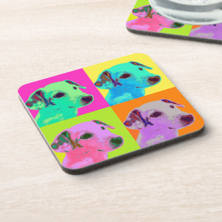 Dog, Jack Russell Terrier. Popart, Warhol - animal Beverage Coasters