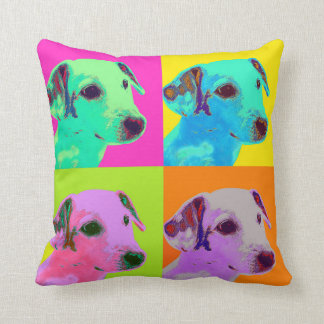 Dog, Jack Russell Terrier. Popart, Warhol - animal Throw Pillow