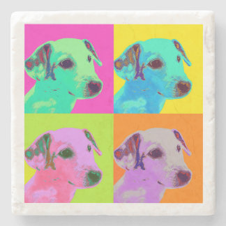 Dog, Jack Russels Terrier. Popart Design Stone Coaster