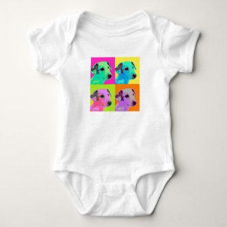 Dog, Jack Russels Terrier puppy. Popart Design Baby Bodysuit