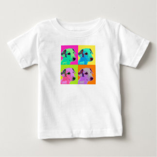 Dog, Jack Russels Terrier puppy. Popart Design Baby T-Shirt