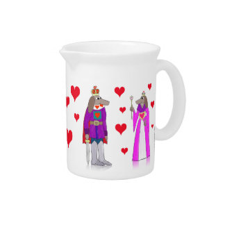 Dog King and Queen of Hearts Pitcher