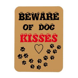 dog kisses rectangular photo magnet