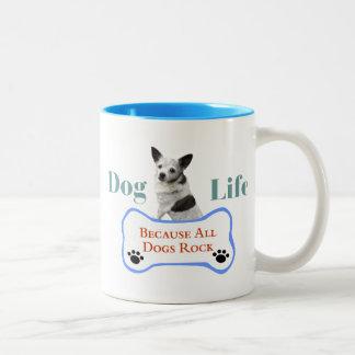 Dog Life Because All Dogs Rock Mug