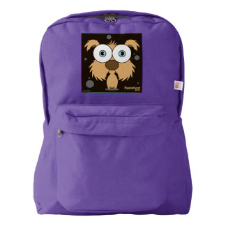 Dog(Light Brown) Backpack, Amethyst Backpack