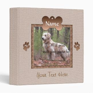 Dog Loss - Dog Memorial (beige) Vinyl Binder