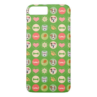Dog Love on Green iPhone 7 Plus Case