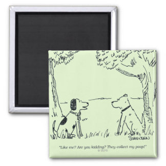 Dog Love Square Magnet