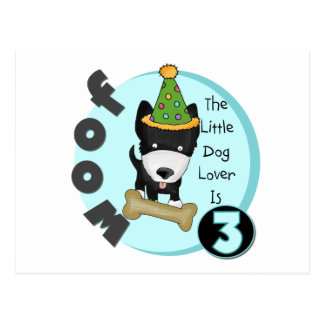 Dog Lover 3rd Birthday T-shirts and Gifts Postcard