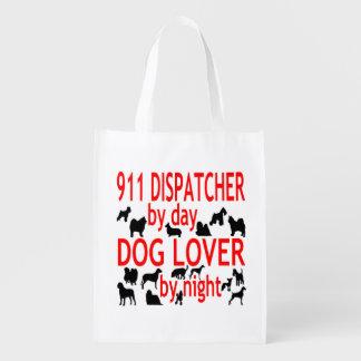 Dog Lover 911 Dispatcher Reusable Grocery Bag