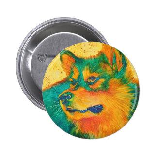 Dog Lover American Eskimo Colorful Animal Button