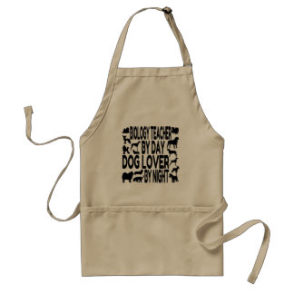 Dog Lover Biology Teacher Standard Apron