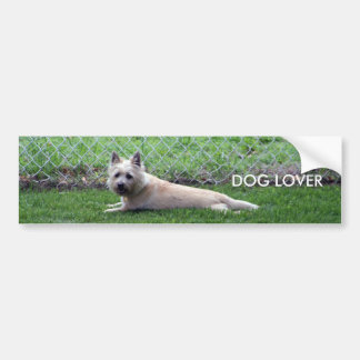 , DOG LOVER BUMPER STICKER