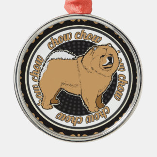 Dog Lover Chow Chow Dog Metal Ornament