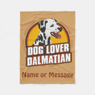 Dog Lover Dalmatian Blanket Customize Name