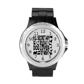 Dog Lover High School Secretary Wristwatches