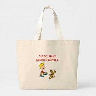 dog lover large tote bag