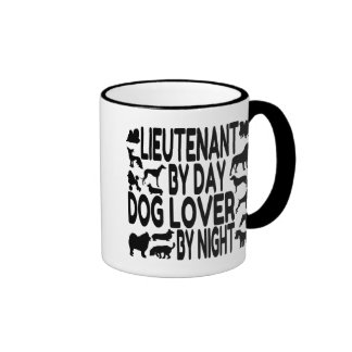 Dog Lover Lieutenant Ringer Coffee Mug
