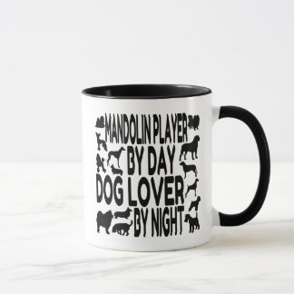 Dog Lover Mandolin Player Mug