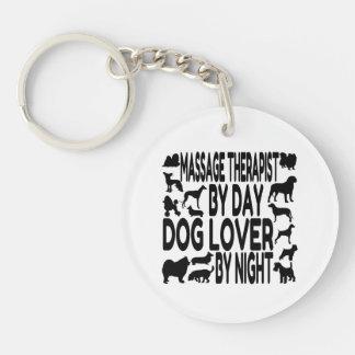 Dog Lover Massage Therapist Acrylic Key Chains