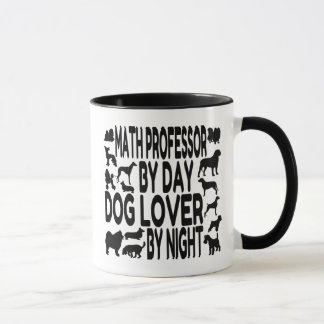Dog Lover Math Professor Mug