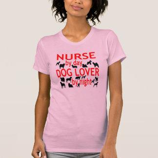 Dog Lover Nurse in Red T-Shirt