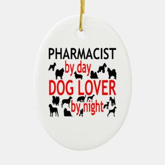 Dog Lover Pharmacist in Red Ceramic Ornament