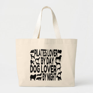 Dog Lover Pilates Lover Large Tote Bag