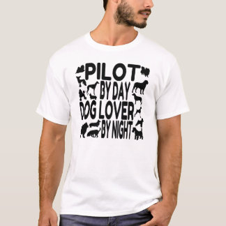 Dog Lover Pilot T-Shirt