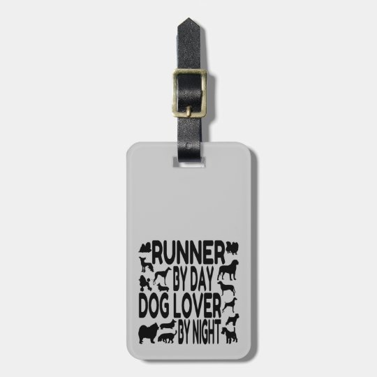 Dog Lover Runner Luggage Tag