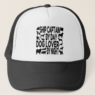 Dog Lover Ship Captain Trucker Hat