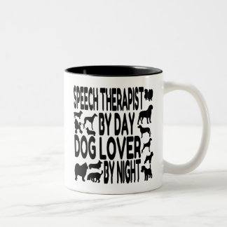 Dog Lover Speech Therapist Two-Tone Coffee Mug