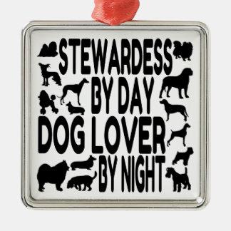 Dog Lover Stewardess Metal Ornament