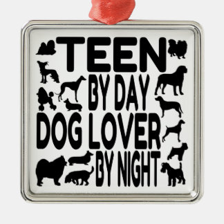 Dog Lover Teen Metal Ornament