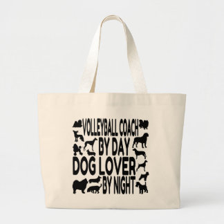 Dog Lover Volleyball Coach Tote Bag