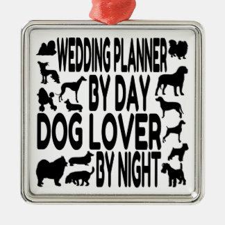 Dog Lover Wedding Planner Metal Ornament
