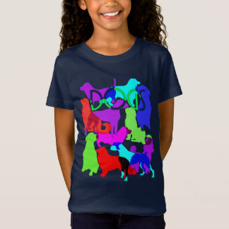 Dog Lovers Colorful Abstract Dogs Design T-Shirt
