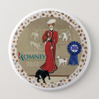 Dog Lovers for Romney 4 Inch Round Button