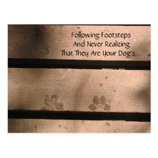 Dog Lover's Haiku Postcard