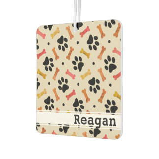 Dog Lover's Paw & Bone Pattern Custom Air Freshener
