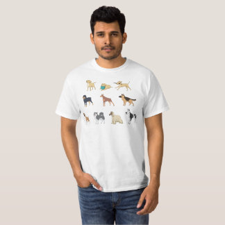 Dog Lovers Pet Dogs Collage Graphic Men's T-Shirt