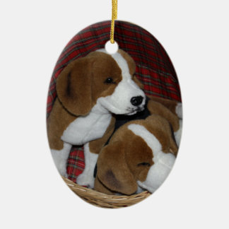 Dog Lovers - Soft Toy Ceramic Ornament