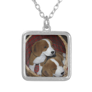 Dog Lovers - Soft Toy Silver Plated Necklace